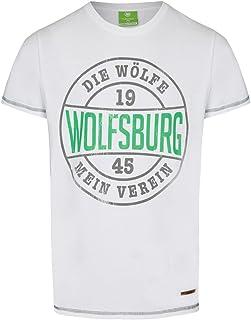 VfL Wolfsburg T-Shirt weiss Die Wölfe großer Brustprint Kollektion 17/18 100% Baumwolle Größe S - 4XL XXXL