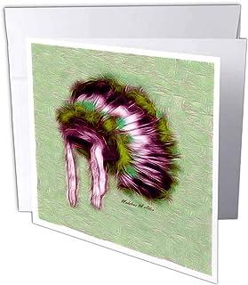 3dRosa gc_15634_2 Grußkarten Indian Headdress H , 15 x 15 cm, 12 Stück B07BJDLLPN  Wirtschaftlich und praktisch