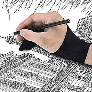 QZ Artist Gloves 2-fingers Tablet Anti-fouling Drawing Gloves