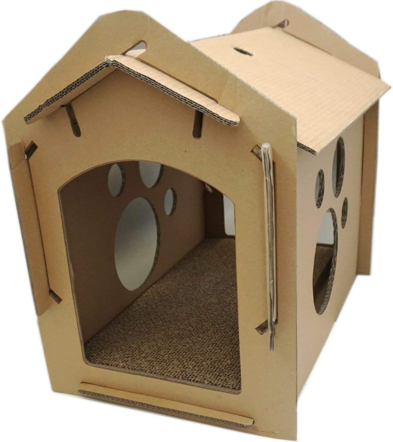 Cat Scratch Cat House Recyclable Cardboard DIY Assembly Predect Your Furniture Scratchpad Mat Cat Indoor Apartment Activity Center