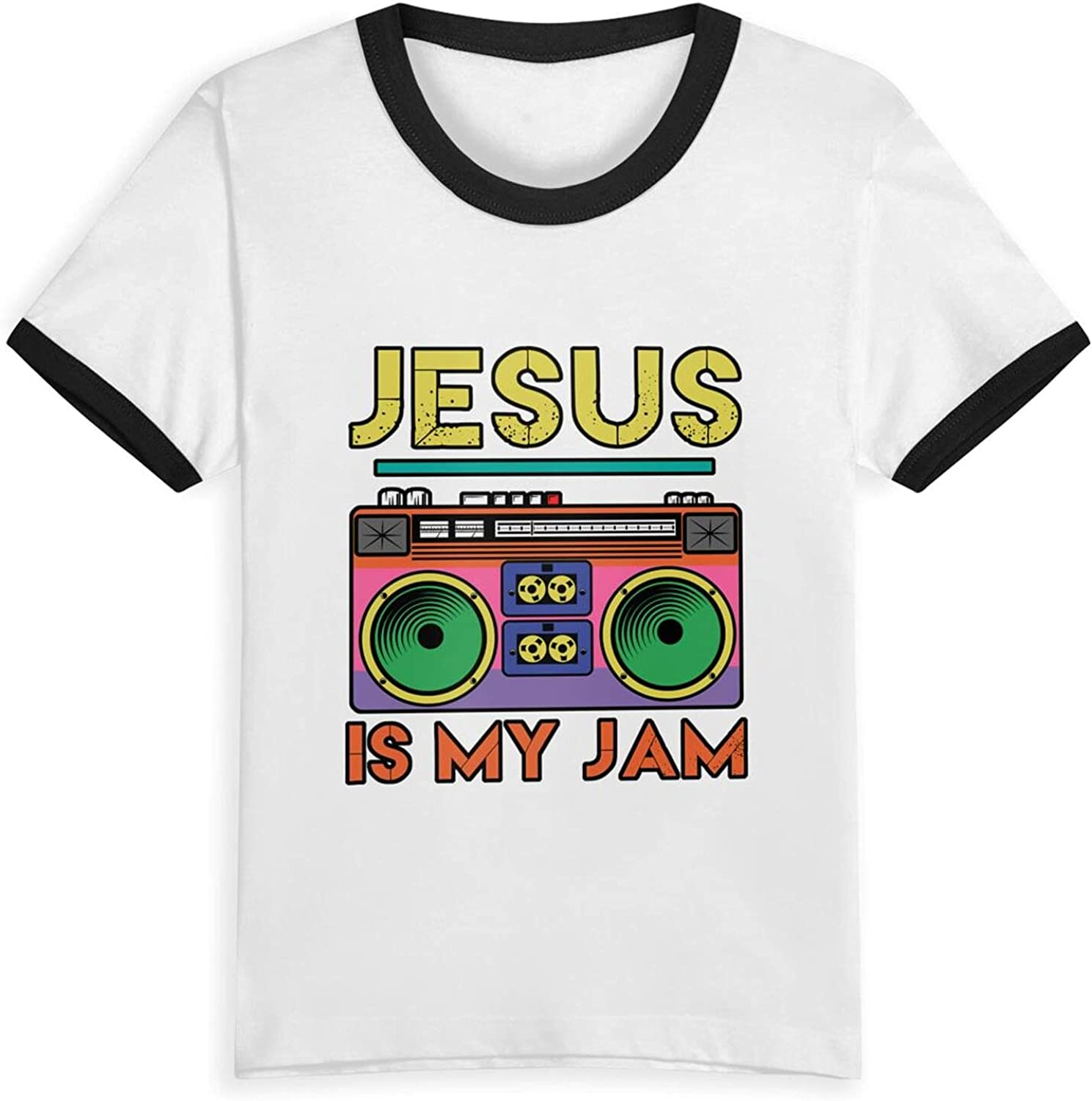 Jesus is My Radio Jam T-Shirts Novelty for Youth Tees with Cool Designs