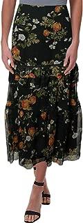 LAUREN RALPH LAUREN Womens Laucar Floral Print Peasant, Boho Skirt Green 4