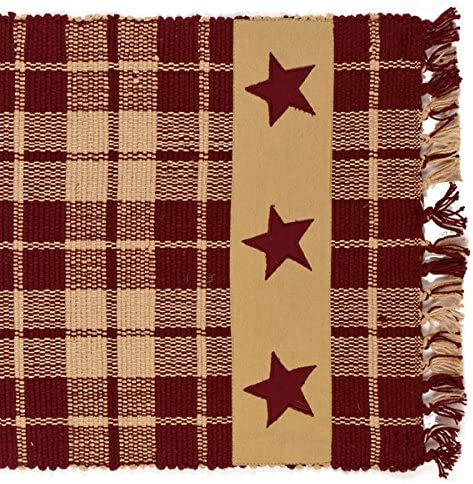 Burgundy Farmhouse Star 54 Table Runner product image