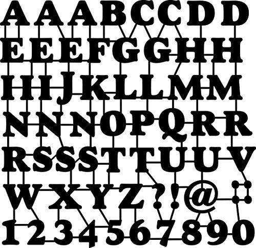 Marabu 0289000000015 - Silhouette Schablone, Ergebnisse mit Negativ - Effekt, PVC frei, wieder verwendbar, zum Sprühen und Spachteln mit Textil- und Acrylfarbe, ca. 30 x 30 cm, ABC and Numbers
