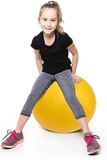 POPETPOP Kabarık Topu Ile Kolları Çocuklar Zıplatma Top Şişme Hazne Top Atlama Çocuklar Top Atlama Hazne Top ( Sarı )