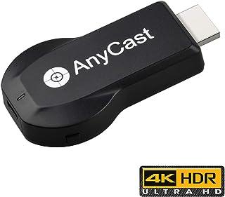 【2019最強アップグレード】Anycast 4Kドングルレシーバー クロームキャスト エニーキャスト モード切り替え不要 ミラキャストミラーリング簡単接続 HDMIワイヤレスミラーリング4K解像度高画質 iOS Android Windows MAC OSシステムに通用 MiraCast/AirPlay/Chrome アプリ互換性があり日本語説明書付き