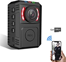 Upgrade Police Body Camera for Law Enforcement Portable Body Worn Camera with 64GB Memory Card Security Camera with Phone App