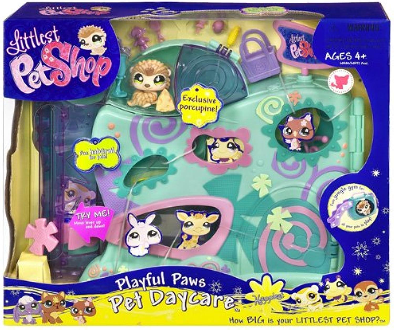 Littlest Pet Shop - Happiest - Playful Paws - Pet Daycare   Wackeltierchen - Spielplatz - Super-Playset mit Exclusive Porcupine   Stachelschwein  485 - Hasbro