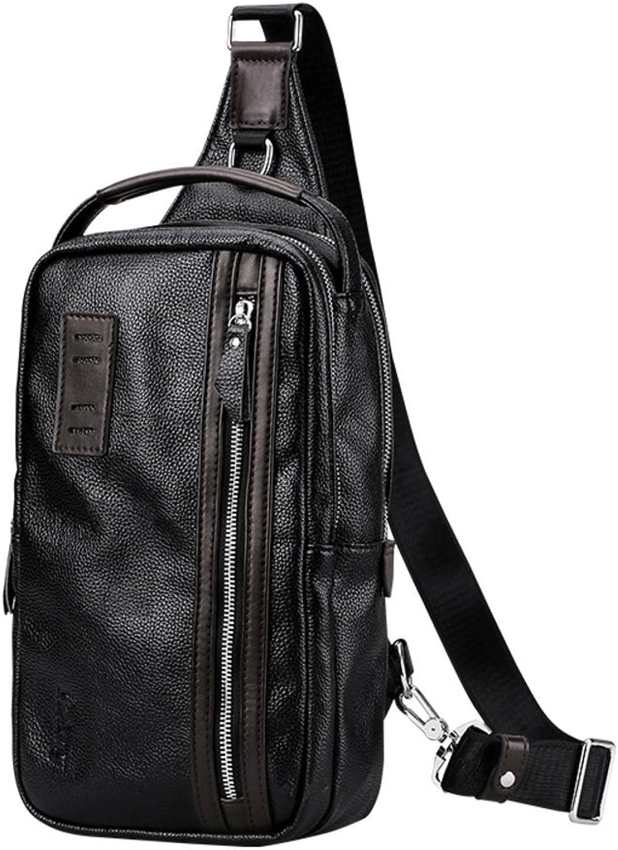 Herren-Rindsleder-Brust-Tasche Retro-umhängetasche Business-Tasche Im freien Bumbag-A B07F7RYCQP  Überlegene Materialauswahl