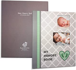 Baby Memory Book Photo Journal: Flexible Organization Loose Leaf Ring Binder Style Album. Birth - First 5 Years, with Gift Box for Photos Keepsakes Hand Foot Prints Memories; Pocket Pages for Storage