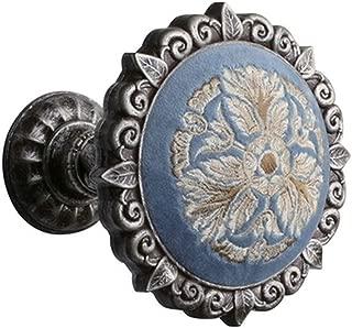 EleCharm 1Pair Flannelette embroidered High Grade Medallion Holdbacks Wall Hook Drapery (Aged Silver)
