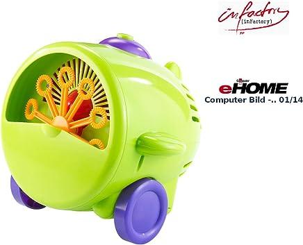 infactory Seifenblasenmaschine: Seifenblasen-Maschine im lustigen Fliegerlook (Seifenblasenmaschine Kinder)