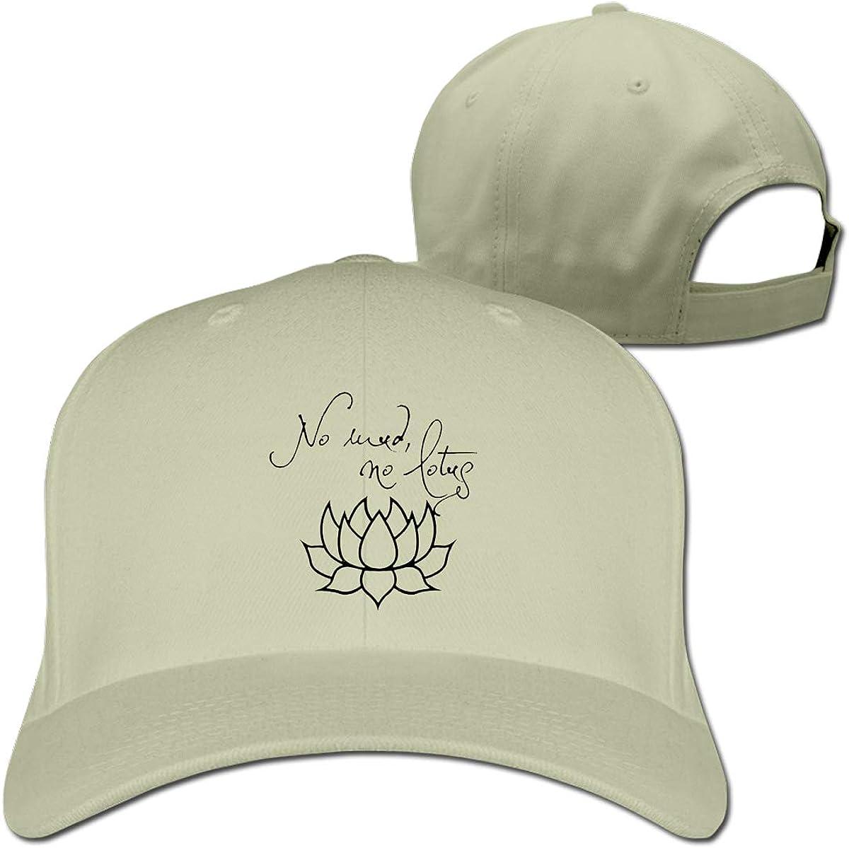 No Mud No Lotus Racerback Adjustable Baseball Cap Sport Hat for Men and Womens