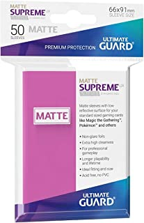 Ultimate Guard UGD010822 Supreme UX Card Sleeves, Standard, Matte Pink