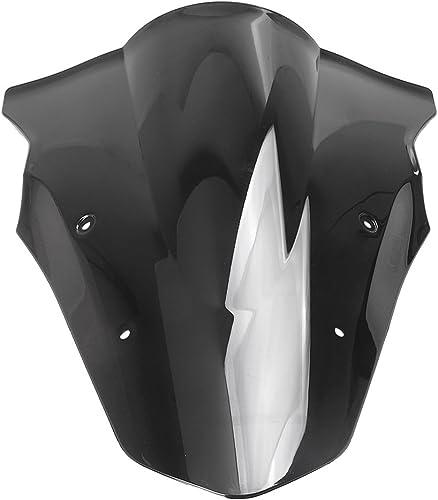 2021 Mallofusa Motorcycle Windscreen Front Windshield Compatible for Kawasaki outlet online sale ER6R 2012 2013 2014 2015 online sale 2016 Black outlet sale