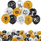 """Kesote Set di 50 Palloncini di Halloween Palloncini di Lattice di 3 Colori Pallocini Decorativi per Casa, Festa di Halloween, Palloncini di 12"""""""