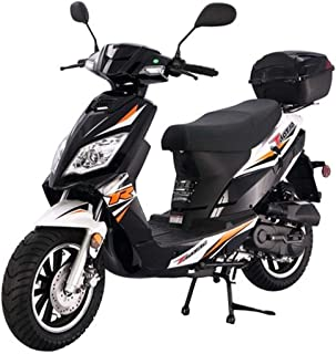 X-PRO 50cc Moped Scooter Gas Moped Scooter 50cc Thunder 50 Street Scooter Bike (Black)