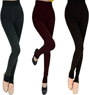 BoodTag Women Winter Thick Warm Fleece Lined Leggings Pants Stretchy Trousers
