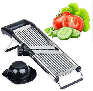 Mandoline Slicer by Simplify Fresh - Premium Stainless Steel Metal, Adjustable Vegetable Cutter Blade, Cut-Resistant Gloves - Safe Handheld Chopper Makes Easy Thin or Thick Veggies & Julienne