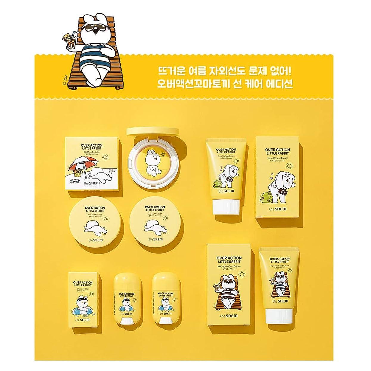 メーターメトリック健康的【The Saem】ザセム エコ アース パワー ノーシバーム サンクリーム/Over Action Little Rabbit Edition No Sebum Sun Cream