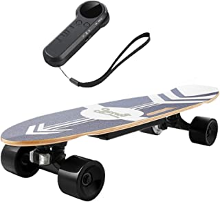 Nesaila Electric Skateboard with Remote Control Electric Longboard for Adults and Youths, 20 KM/H Top Speed Longboard, 350W Singal Motor,Complete Cruiser Skateboard