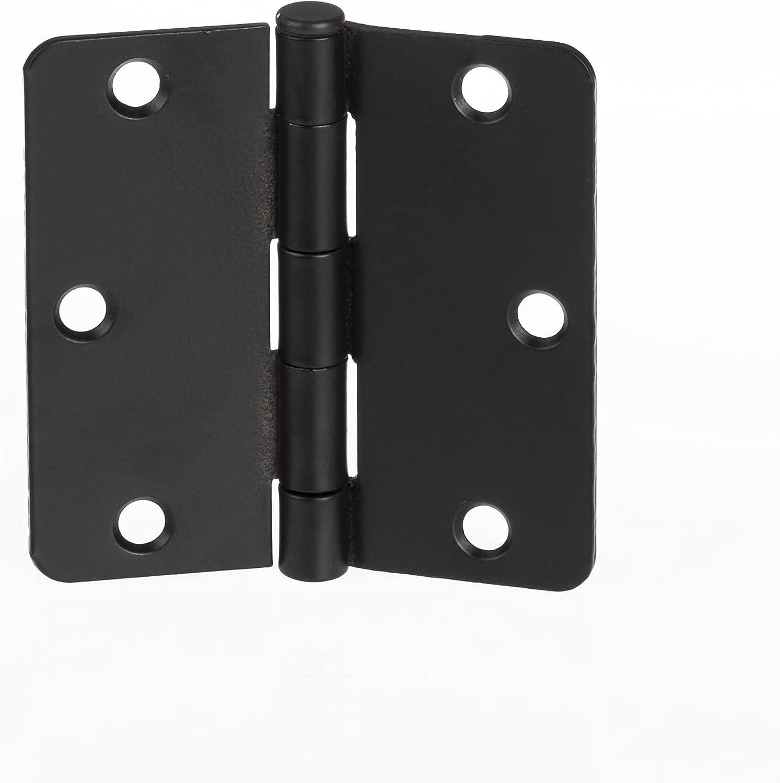 Barcaloo 12 Pack of Door Hinges 3.5 x Finally popular brand mart Inch Interior Black -