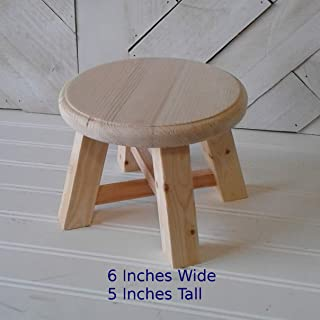 Park Hill 5.5 x 7 Wooden Mini Stool Display Stand