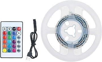 Nishore Kit de luzes de tira de LED para quarto 0 5 m de comprimento 15LEDs 5050 RGB Controle remoto de mudança de cor Fit...