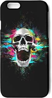 Iphone7 Plus Case/Iphone8 Plus Case Colorful Scary Skull Printing Anti-Finger Anti-Scratch TPU Heavy Duty Protection Phone Back Cover for IPhone7 Plus/IPhone8 Plus