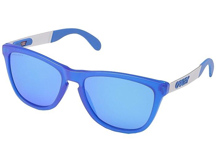 Oakley Frogskin Mix (Matte Transparent Sapphire w/ PRIZM Sapphire) Fashion Sunglasses