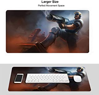 HJJL Extended Size Professional Gaming Mouse Pad for League Legends,LOL Waterproof Non-Slip Rubber Ultra Thick 3Mm (Champi...