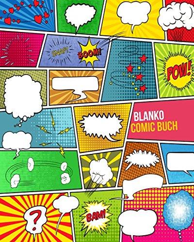 Blanko Comic Buch: Über 100 Seiten mit leeren Comic Rastern zum Selberzeichnen - Ein geniales Geschenk zum Kreativität steigern & Zeichnen lernen für Kinder