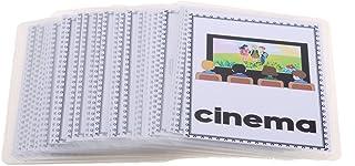 Flameer Preschool Educational Flash Cards Kids Cognition Card Pocket Flash Card - 32 Pieces Building Site, as described