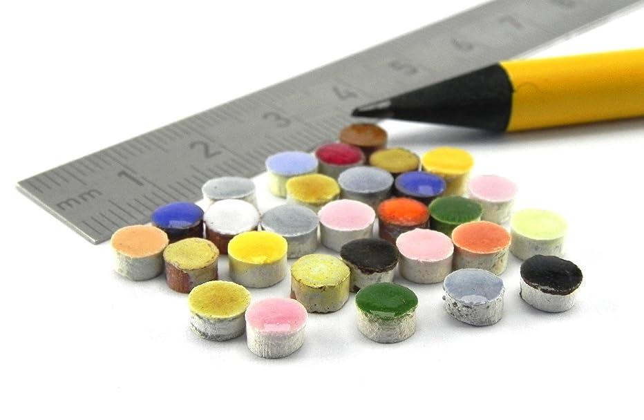 ALEA Mosaic Mosaic-Minis Round Stones ?5mmx3mm,Mix Varied 1000 Micro
