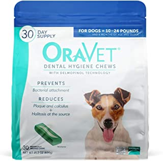 Oravet Dental Hygiene Chews for Small Dogs (10 - 24 lbs)
