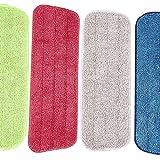YuKeShop Fregona de limpieza de 4 piezas para fregona Vorfreude y todas las mopas y mopas lavables