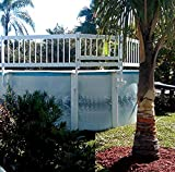 """WaterWarden Aboveground Swimming Pool Safety Gate, Large, White – 24"""" High Fencing Made of Durable UV-Protected Vinyl, Hardware Included, EST148"""