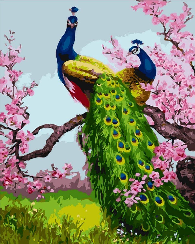 DIY Digital Painting Pure HandPainted Decorative Painting Landscape Cartoon Animal Abstract Painting Bedroom Mural, 50x65cm