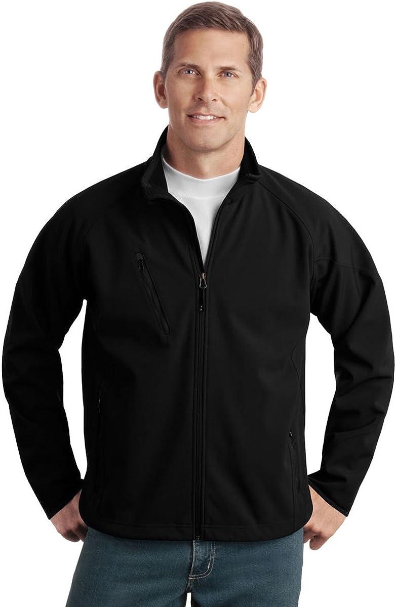 Port Authority - Tall Textured Soft Shell Jacket-4XLT (Black)
