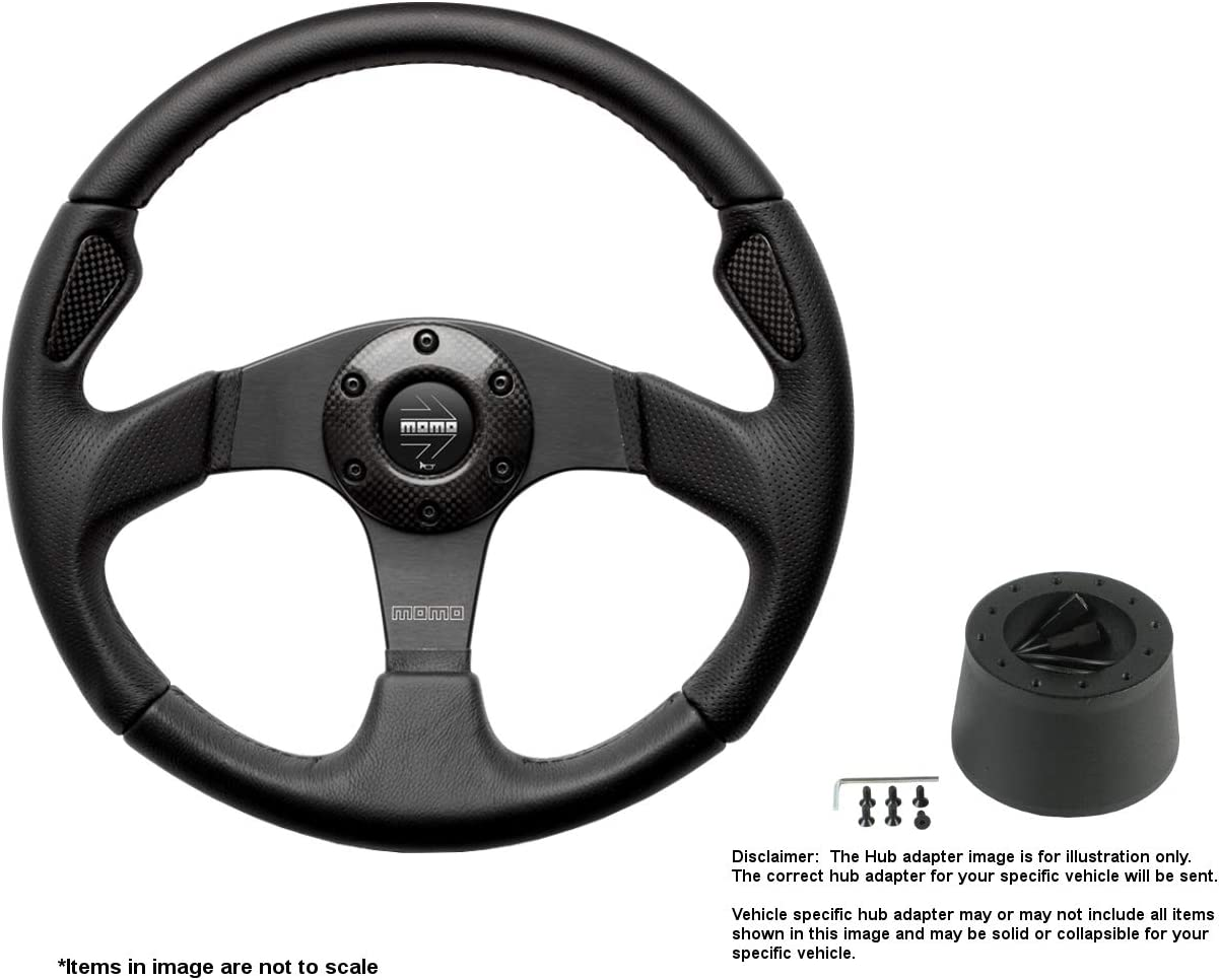 MOMO Jet 350mm 13.78 Inches Leather Wheel New life B Brushed w Steering Limited time cheap sale