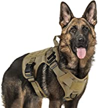 Rabbitgoo Tactical Dog Harness Large Service Dog Vest with Handle, Military Dog Safety Harness with Molle and Velcro Strip...