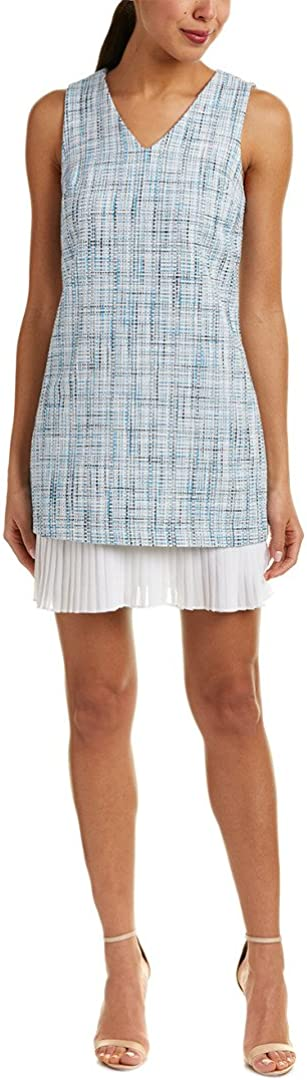 CeCe Womens Isabella Sleeveless V-Neck Dress, Great Harbour
