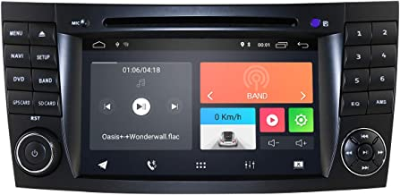 hizpo Android 9.0 Car Radio Stereo for Mercedes-Benz E-Class W211 2002-2009 Mercedes-Benz G-Class W463 2001-2008 Mercedes-Benz CLS-Class W219 2001-2011 WiFi Bluetooth Steering Wheel Control
