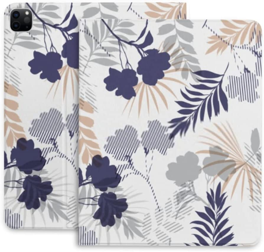 Case for Ipad Pro Cheap super special price 12.9 Monotone Tropical Silhouette Grey Fort Worth Mall Fo Blue