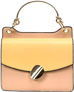 ZZZ Bag Trend Metal Portable Chain Wild Shoulder Slanting Korean Women Bag Fashion Personality fashion (Color : Khaki)