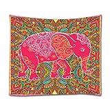 elefante indio mandala boho hippie rojo para colgar