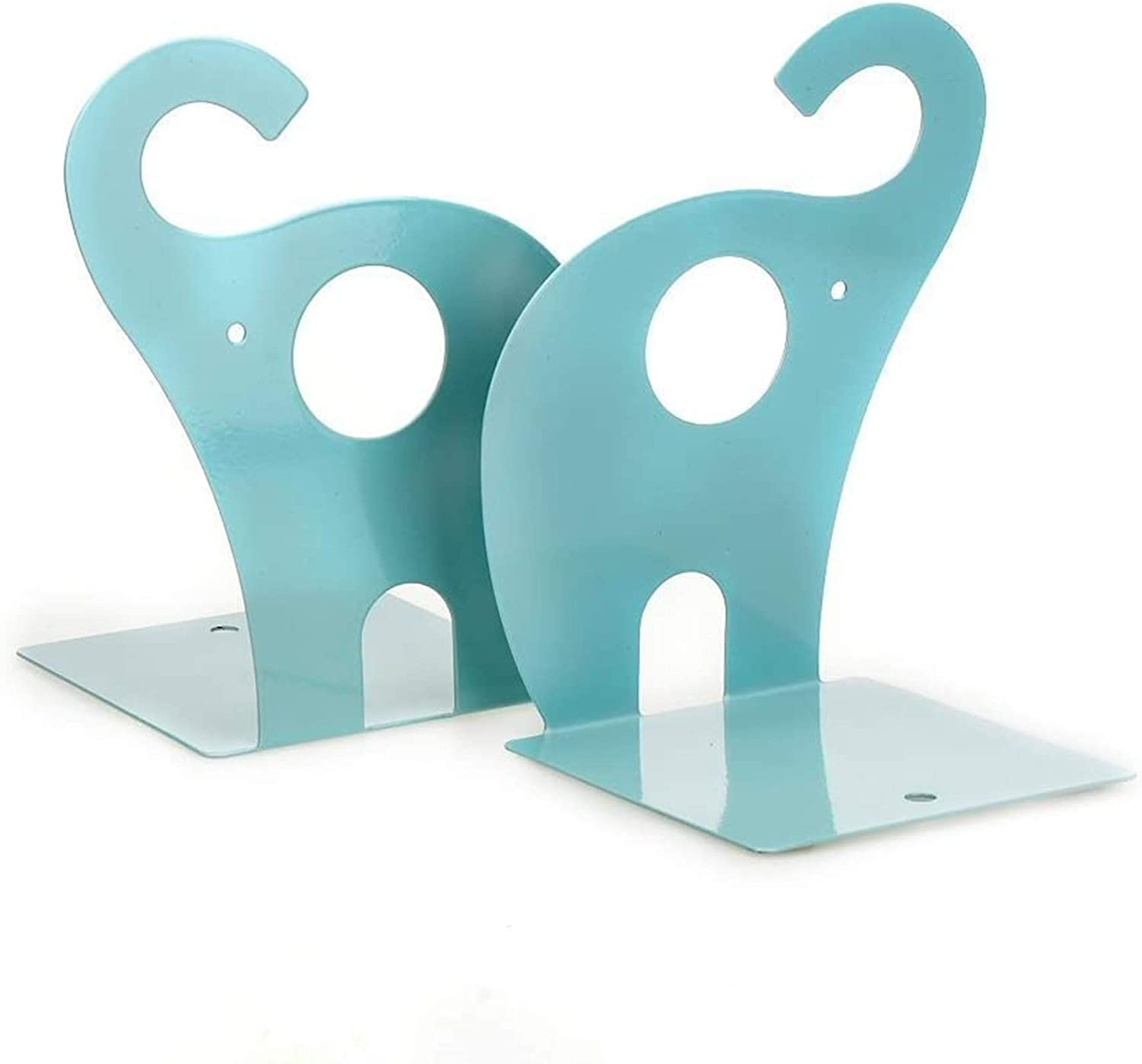 2021 Dxhycc 1pair Blue Cute Elephant Rack Bookends Book Nonskid Ranking TOP13