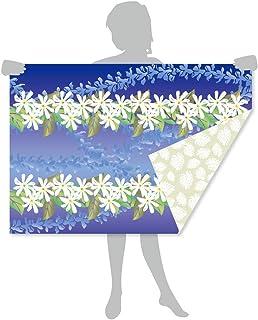 「サラッとドライ ハワイアンバスタオル」 レイ ウリ 光触媒マイクロファイバー 90㎝×130㎝ アスカタオル 抗菌・消臭タオル 1SP-REI-ULI