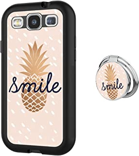 Samsung Galaxy S3 case Gold Pineapple Full Body Case with Holder Ring Cover Protector Heavy Duty Protection case Shockproof case for Samsung Galaxy S3