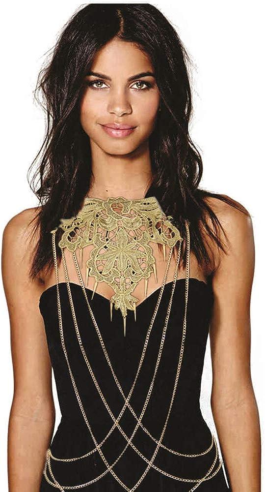 JoJo&Lin Gold Flower Lace Fine Chain Body Chain Bikini New Arrival 2021